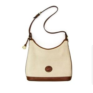 Vintage Dooney & Bourke Leather Pebble Hobo Bag